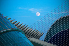 City of Arts and Sciences under Full Moon Royalty Free Stock Photos