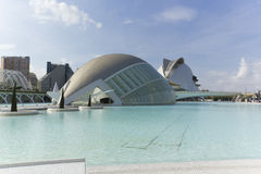 City of Arts and Sciences in Valencia. Valencia, Spain. October 15, 2011. The Hemisferic. October 15 2011.Edificio futuristic designed by Santiago Calatrava Stock Images