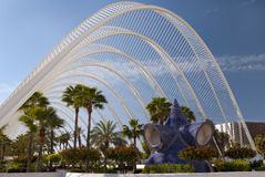 The City of Arts and Sciences Valencia. The Umbrace at The City of Arts and Sciences, Valencia, Spain Stock Photo
