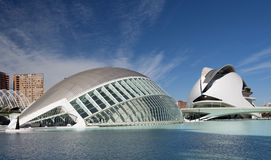 The City of Arts and Sciences Valencia Royalty Free Stock Photography
