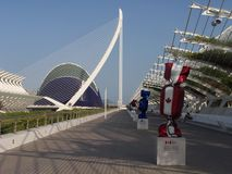 The City of Arts and Sciences in Valencia. The image can be useful for articles about one of the most significant sights in Valencia Stock Photography