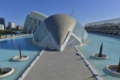 The city of arts and sciences of valencia Stock Photo