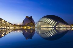 The City of Arts and Sciences of Valencia stock photos