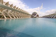 City of Arts and Sciences. In Valencia. A complex of buildings created by the architect calatrava Royalty Free Stock Image