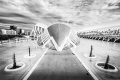 City of Arts and Sciences. In Valencia. A complex of buildings created by the architect calatrava Stock Image