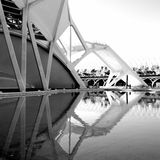 City of arts and sciences, Valencia. Modern architecture: Ciudad de las artes y las ciencias Stock Photo