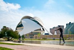 City of Arts and Sciences in Valencia, Spain. VALENCIA, SPAIN - APRIL 28: Palau des Arts Queen Sofia in The City of Arts and Sciences, by architect Santiago Stock Photography