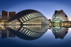 City of Arts and Sciences, Valencia, Spain stock photography