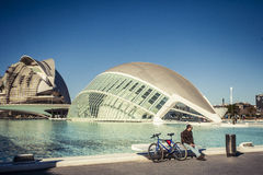 City of Arts and Sciences in Valencia, Spain. Royalty Free Stock Photos