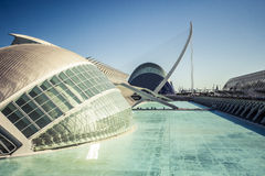 City of Arts and Sciences in Valencia, Spain. Royalty Free Stock Images