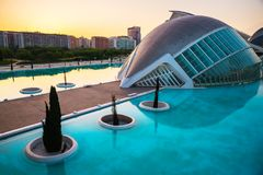 City of arts and sciences. In Valencia, Spain, on a day of summer stock photography