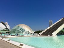 City of Arts and Sciences, Valencia, Spain Designed by Santiago Calatrava and Félix Candela Stock Photography