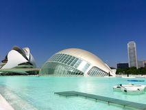City of Arts and Sciences, Valencia, Spain Designed by Santiago Calatrava and Félix Candela Royalty Free Stock Images