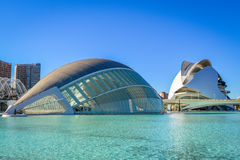 The City of Arts and Sciences, Valencia, Spain - The Hemisferic and the Palau de les Arts Stock Image