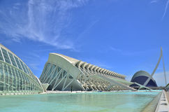 The City of Arts and Sciences. Royalty Free Stock Photography