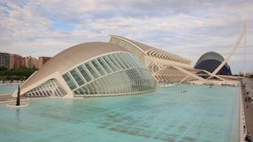 City of Arts and Sciences in Valencia stock video