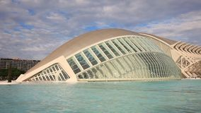 City of Arts and Sciences in Valencia stock video footage