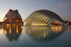 City of the arts and the sciences Royalty Free Stock Photography