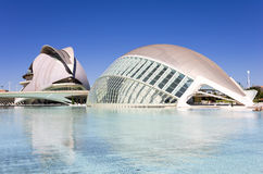 City of the arts and the sciences Royalty Free Stock Photos