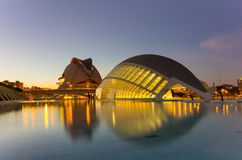 City of the arts and the sciences Royalty Free Stock Image