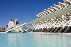 City of the arts and the sciences Stock Photography