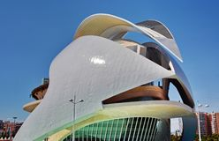 Valencia, Spain. City of Arts and Sciences Opera in Valencia, Spain royalty free stock photography