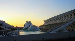 City of arts and sciences in Valencia, Spain stock photography