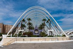 City of Arts and Sciences in Valencia, Spain royalty free stock image