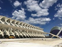 City of the arts in Valencia. Modern buildings in the City of the Arts and Sciences in Valencia, Spain Stock Photo