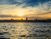 City asia Istanbul in Bosphorus Royalty Free Stock Photography