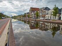 City of Assen in the Netherlands. Central canal in the city of Assen, Netherlands Royalty Free Stock Photo