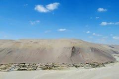 City in Atacama desert stock photo