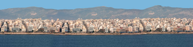 City of Athen from the sea Royalty Free Stock Photography