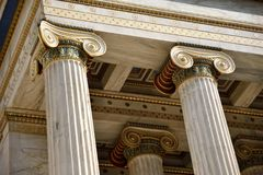 ATHENS, DETAILS OF COLUMN royalty free stock image
