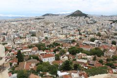 The city of Athens, Greece royalty free stock photos