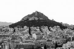 Athens. Mountain in the heart of the Greek capital Royalty Free Stock Photography