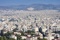 City of Athens panorama Stock Photography