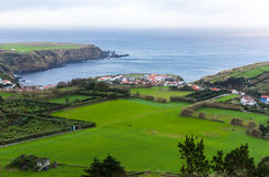The city on the Atlantic coast of the island of Sao Miguel Royalty Free Stock Photos