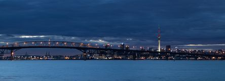 Grey Auckland. The city of Auckland with a very grey morning sky Stock Images