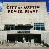 The City of Austin Power Plant royalty free stock photo