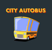 City autobus. Yellow car. Autobus or taxi Stock Photography