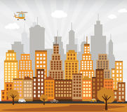 City in autumn Royalty Free Stock Photography