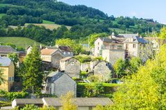 City of Auxillac in France Royalty Free Stock Photos