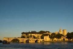 The city of Avignon at Sunset , France Royalty Free Stock Image