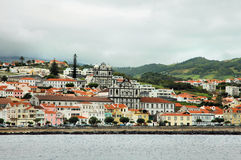 City at Azores coast Royalty Free Stock Images