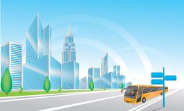 City background Royalty Free Stock Images