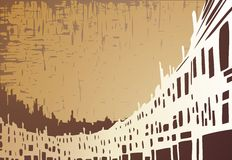City background. Artistic city silhouette background Royalty Free Stock Photos