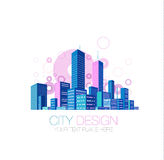 City background. Abstract city skyscrapers vector background Royalty Free Stock Photos