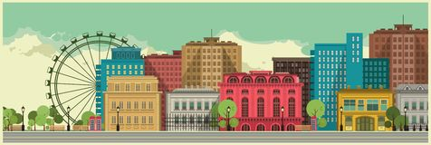 City background stock illustration