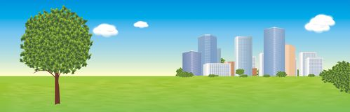 City background Stock Photography